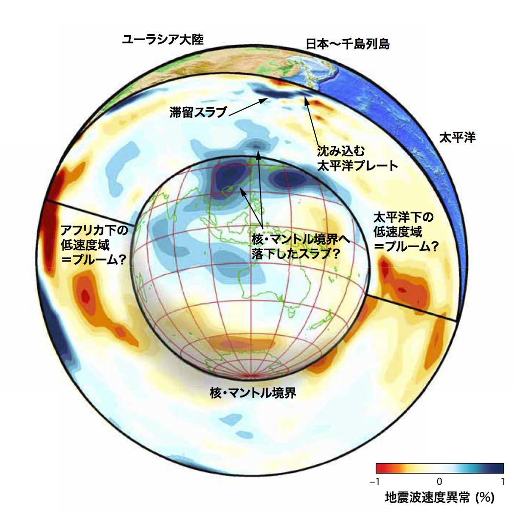 の 構造 地球 内部